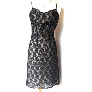 Express Cocktail Dress- Lace/beaded detail -black
